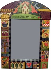 """Home Is Where The Heart Is"" Mirror by Sticks @ Smith Galleries"