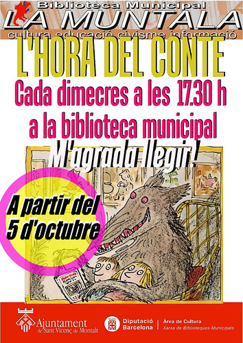 L'hora del conte: a partir del 5 d'octubre by bibliotecalamuntala