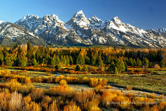 In Love With This World (Aspenbreeze) Tags: autumn snow mountains reflection fall nature colors season rockies rocky grand wyoming teton tetons grandtetonnationalpark wow1 wow2 wow3 wow4 aspenbreeze ringexcellence artistoftheyearlevel3 blactailponds grandteontmountains