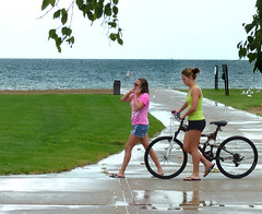 After The rain (FrogBum) Tags: girls summer bicycle women michigan detroitmichigan macombcounty huronclintonmetroparks harrisontwp metrobeachpark lakestclairmetropark