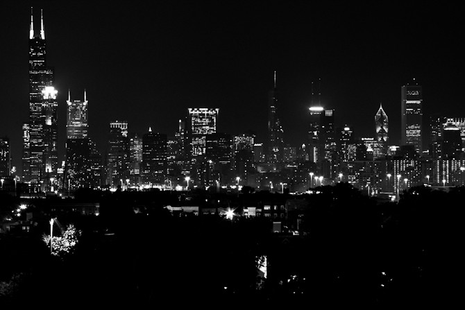 Skyline from U.S. Cellular Field