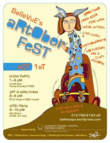 Artober Fest Bellevue PA Skate Plaza Fundraiser
