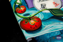 Smiley (Rozknob) Tags: macro art painting jocelyn skateboard roz acryilic shelfie yaknob
