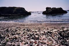 (probable koz) Tags: california film beach glass 35mm kodak fort contax 100 bragg t2 ektar