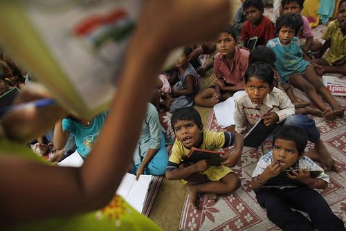 Elementary School Classrom in a slum