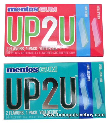 Mentos UP2U Gum (Sweet Mint/Bubble Fresh and Daylight Mint/Mintnight Mint)