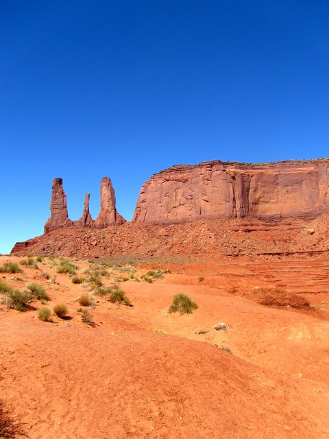 Three Sisters, Monument Valley, Utah