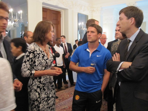 Michael Carrick with guests
