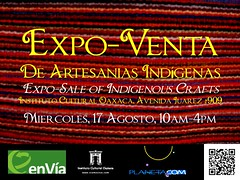 Expo-Sale of Indigenous Crafts This Wednesday @ ICO, Oaxaca 08.2011