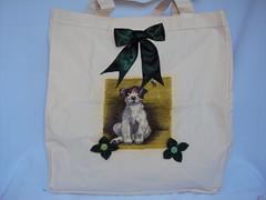 Eco bag Pet (Cia Ateliê) Tags: pet cachorro feltro eco decoupage ecobag aplicação sacola customização