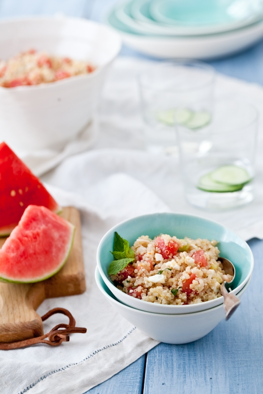 Quinoa, Watermelon & Feta Salad