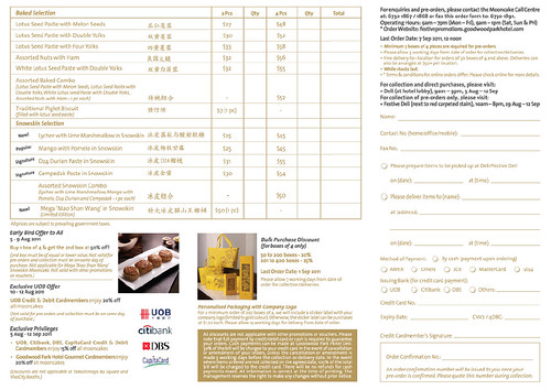 Goodwood Park Mooncake Order Form 2011