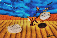 A Salvador Dali Tribute (Peter Solano. Pursuing a dream!) Tags: original clock photoshop painting time expression watch creative photograph oil exploreoriginal catchycolorssalvadordaliphotomanipulation petersolano