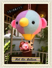 Hot Air Balloon Amigurumi (Jaravee) Tags: cute animal toy doll handmade crochet balloon craft plush kawaii amigurumi kawai