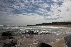 11-8-2011 (Copperhobnob) Tags: sea sky beach coast sand rocks waves aberdeenshire stcombs