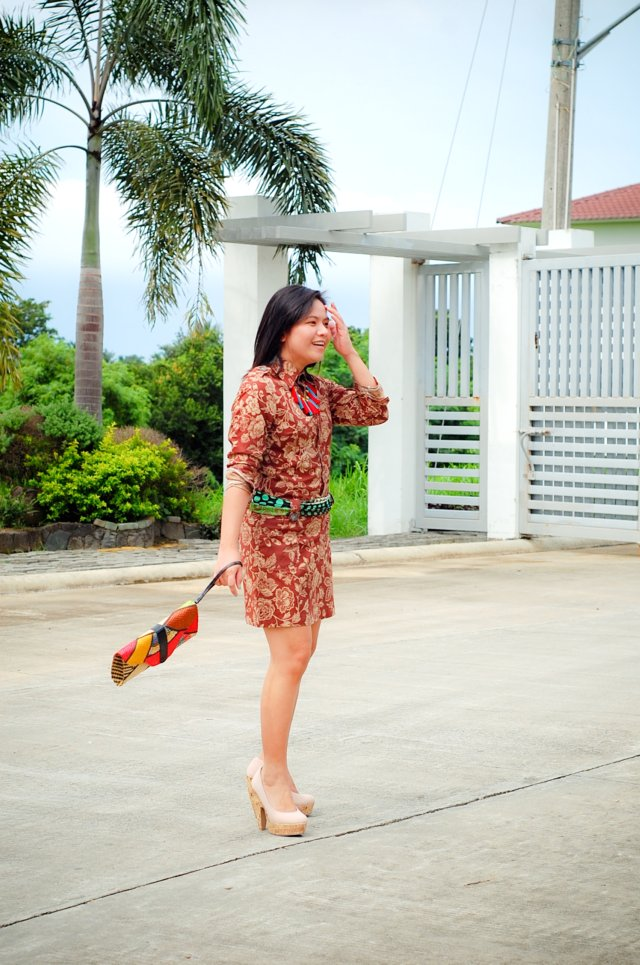thrift shop manila dress and Maud heels