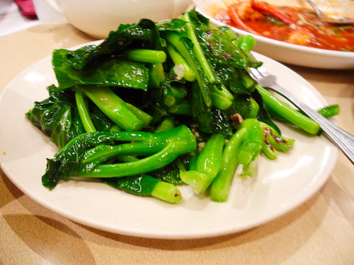 Choy Sum Veggies in Garlic Sauce
