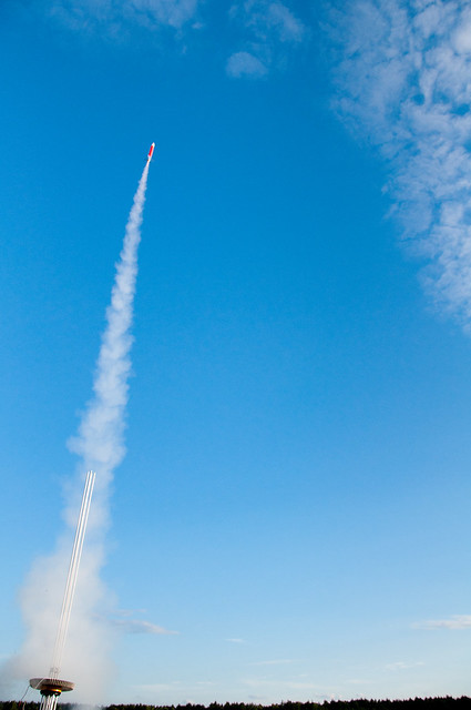 Chaos Communication Camp 2011: PTS rocket launch