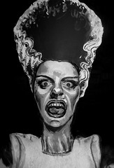 #559. The Bride of Frankenstein! (hawhawjames) Tags: art classic film face monster painting hair movie james bride big paint artist mask puppet body vampire painted makeup icon frankenstein scream horror boris creature iconic kuhn karloff lanchester elso vimpires