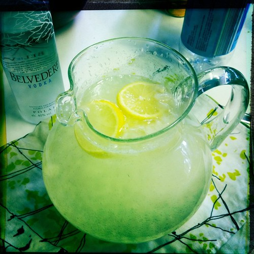 Homemade lemonade, spiked with belvedere vodka!