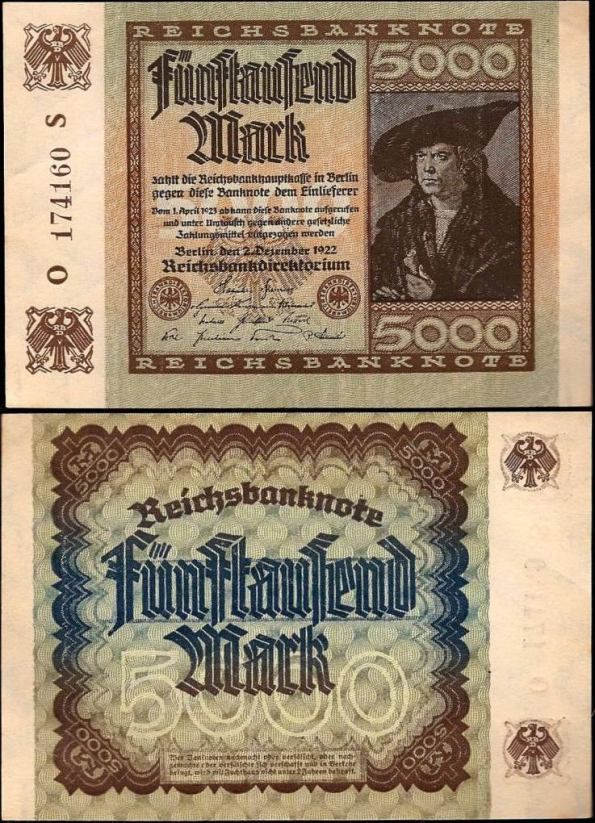 5000 Mariek Nemecko 1922, Pick 81