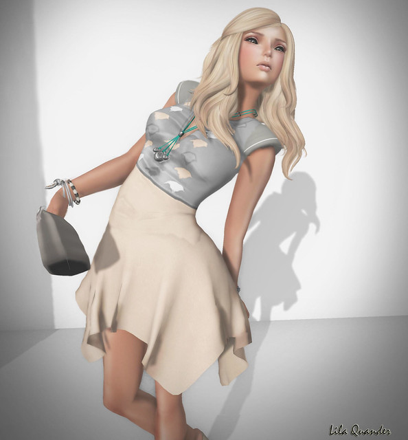 Fashionably Late 4 -  BOUNCE - KAELYN Dress - Apricot (skirt version2)