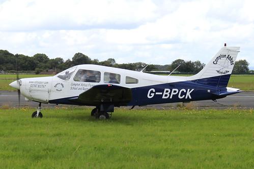 G-BPCK - Piper Warrior_  Dunkswell