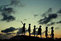 Khona - Remembering A Legend [Explored] (pallab seth) Tags: india girl silhouette children nikon bengal gettyimages westbengal thelegend khona thebestsilhouettes d3100 pallabseth silhouettechildren grambanglarchobi