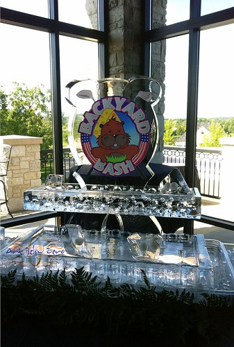 Backyard Bash Seafood Display Ice Sculpture