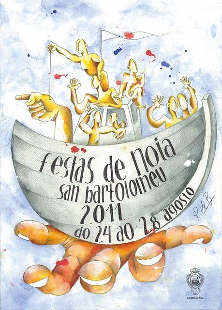 cartel festas de san bartolomeu 2011