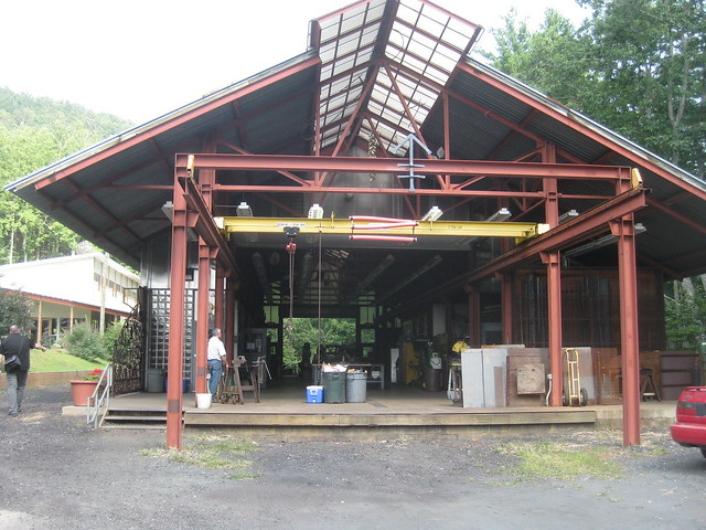 the metal shop at Penland