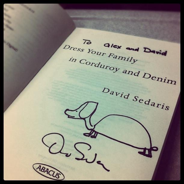 David Sedaris Signature