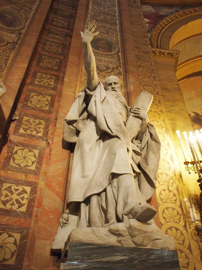 Ricardo Bellver (Madrid, 1845-1924) San Andres (Saint Andrew) Marble. Basilica de San Francisco el Grande, Madrid.