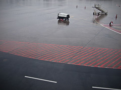 (miemo) Tags: wet lines rain stairs airport rainy asphalt markings airstrip tegel