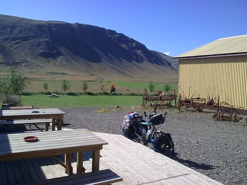 ... and my first campsite. Not a bad introduction to sleeping rough in Iceland!