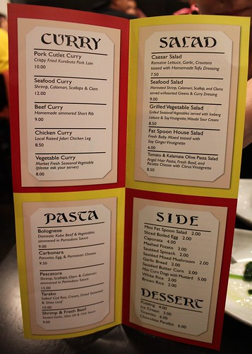 Fat Spoon Menu