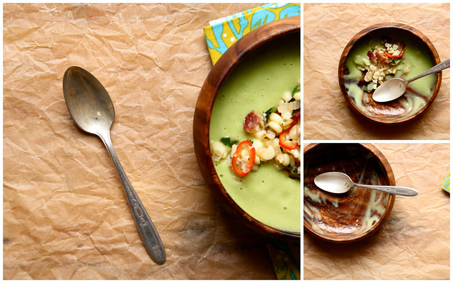 avocado soup collage