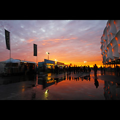 Olympic Sunset (edwardkb) Tags: sunset england london basketball unitedkingdom sigma hackney 1020mm olympicpark stratford olympics2012 london2012 superwide