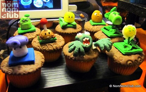 Plants and Zombies Cupcakes