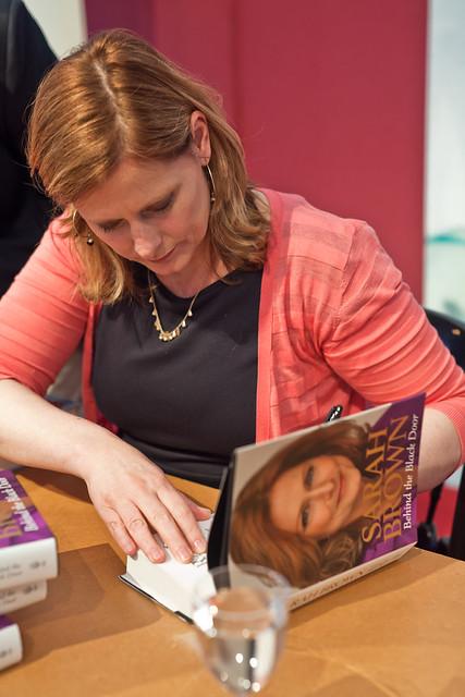 Sarah Brown book signing