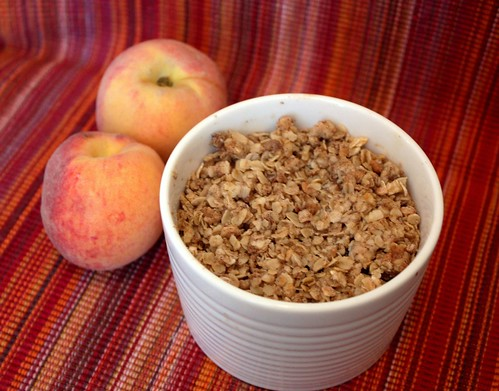 Blueberry Peach Breakfast Crisp for Two - Small Home Big Start