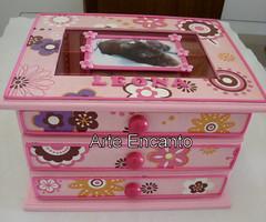 Comoda porta laços (ARTE ENCANTO - III) Tags: shih tzu shihtzu caixa porta biju decoupage comoda bijouteria