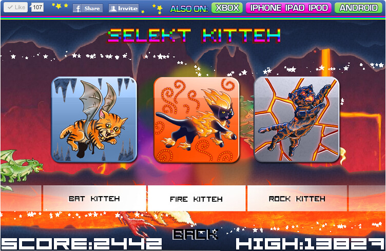techno kitten adventure online