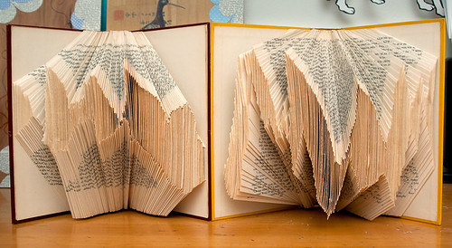 Altered Books: Experimenting with irregular folded pages
