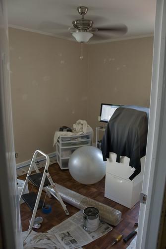 computer in baby room