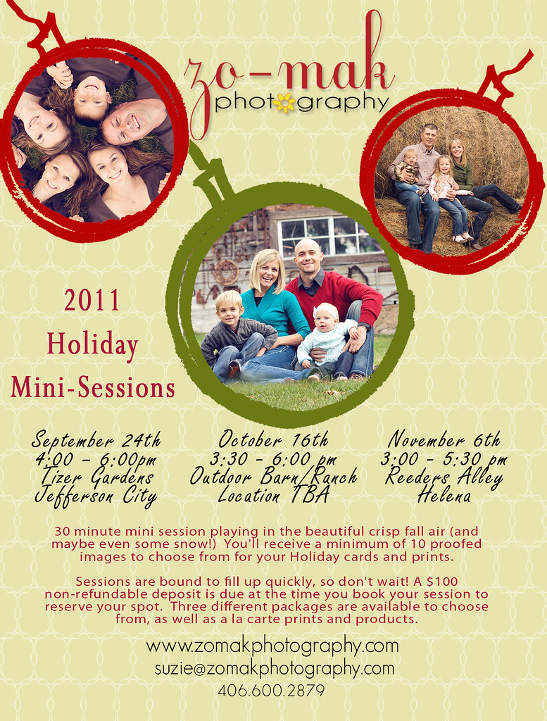 2011 Holiday Mini Session info