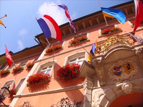 germany building flags flying waldshut by Danalynn C