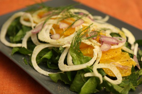 Spinach, Orange, and Fennel Salad
