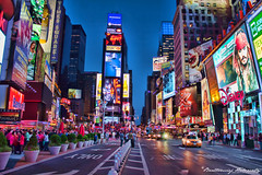 Times Square (bartholowaty | Photography) Tags: new york city nyc trip travel panorama usa ny newyork color apple architecture america canon town big downtown cityscape manhattan united metropolitan dsc manhatan 2011 60d