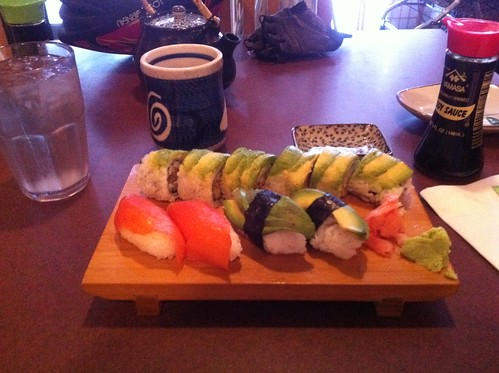 Avocado Maki & Sushi, and Smoked Salmon by raise my voice